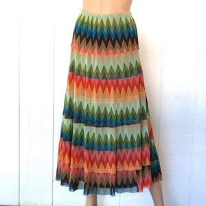 For Cynthia Colorful Chevron Print Maxi Dress